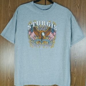 Sturgis Black Hills Rally T Shirt 05 Double Sided